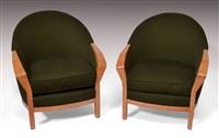 paire de fauteuils modèle mf 732 (set of 2) by pierre chareau