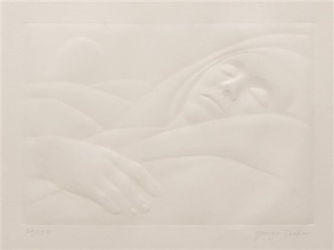 woman asleep by george tooker