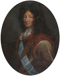 portrait du roi louis xiv by pierre mignard