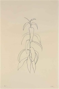 peach branch (from leaves) by ellsworth kelly