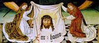 zwei knieende in dalmatiken bekleidete engel halten das schweißtuch der veronika by austrian school-vienna (16)