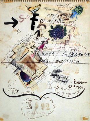 bildbrief an felix handschin by jean tinguely