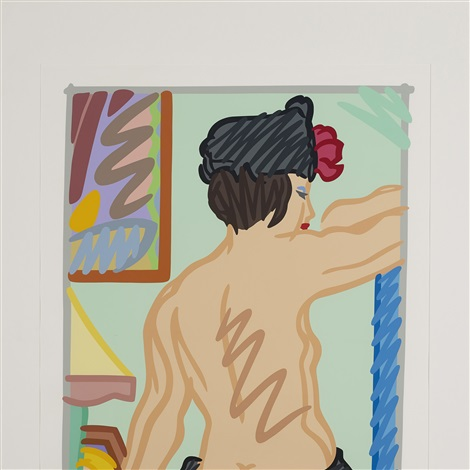 judy with black hat by tom wesselmann