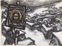 icon above lianozovo by oskar rabin