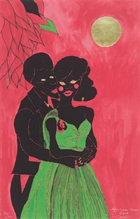 afro lunar lasers by chris ofili