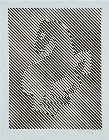 le zèbre by victor vasarely