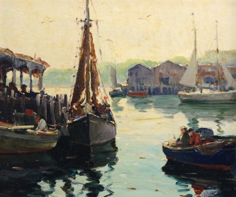 gloucester harbor by anthony thieme