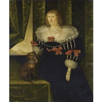 portrait of a lady, thought to be jane danvers (circa 1610-1662), mrs george herbert, later second wife of sir robert cooke by edward bower