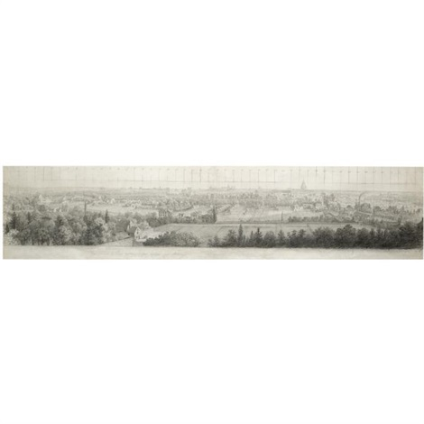 a view of paris looking eastwards from the hill of chaillot by antoine ignace melling