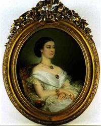 portrait de l'imperatrice eugenie by marie pauline adrienne coeffier