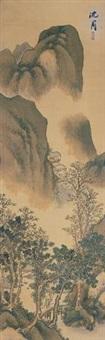 山水 by shen zhou