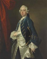 portrait of a gentleman, three-quarter-length by thomas hudson