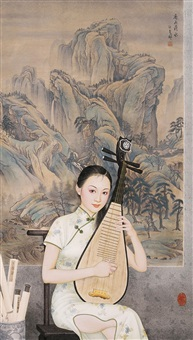 landscape by jiang lifeng