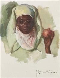 portrait d'une jeune marrakchi by josé cruz herrera