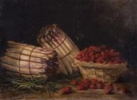 nature morte aux asperges et aux fraises by eugene h. frey