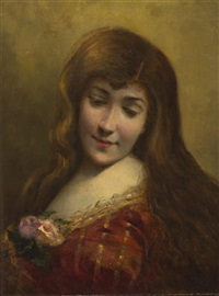 portrait of a woman by angelo asti