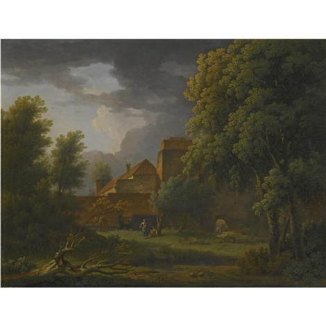part of a ruin of st radigund's abbey, kent by george lambert