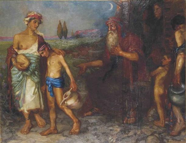 agar et ismael by fernand cormon