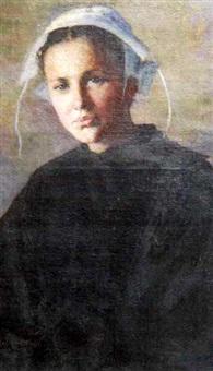 portrait de thérèse bonnaire née melo, à l'age de quatorze ans by katherine maccausland