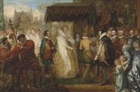 queen elizabeth going in procession to st. paul's cathedral after the destruction of the spanish armada by benjamin west