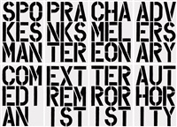 black book (set of 17 works) by christopher wool