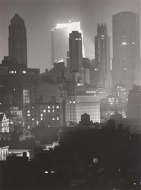 manhattan at midnight (+ another, similar; 2 works) by andreas feininger