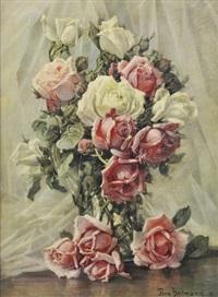 still life roses by flora heilmann
