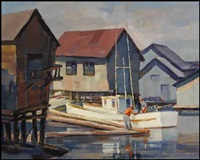 coal harbour, vancouver by ronald threlkeld jackson