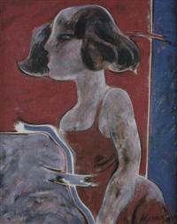 mujer de perfil by alfonso sucasas