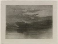 study of the sea and sky (from little liber studiorum) by joseph mallord william turner