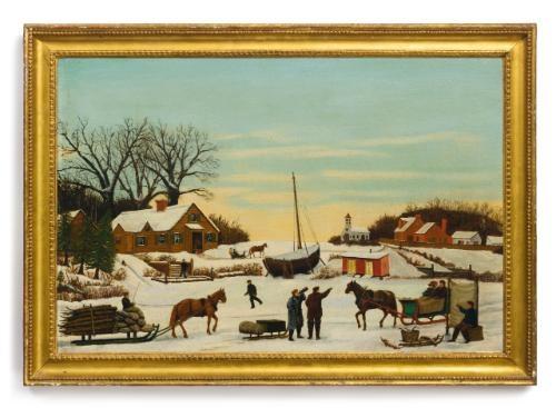 a town in winter by thornton oakley