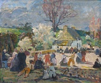 fête bretonne by lucien simon