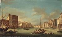 blick auf den canal grande mit der kirche san geremia by italian school-venetian (19)