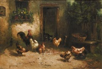 cat among the chickens by louis marie lemaire