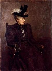 retrato de dama con sombrero by joaquin vaamonde
