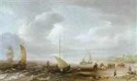 strandansicht von egmond aan zee by hans (johan) goderis