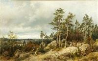 landscape from helsinki by berndt adolf lindholm