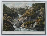 cavern cascade - romantische gebirgslandschaft mit personenstaffage (after j. smith) by joseph constantine stadler