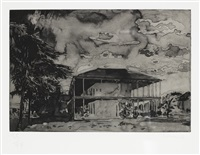 nine etchings (set of 9) by hurvin anderson