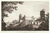 a view of part of the fort of lutteefpoor (+ 9 others; 10 works from select views in india) by william hodges