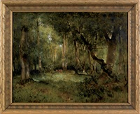 untitled (wooded landscape) by marie ferdinand jacomin
