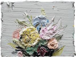 white flowers #2 by allison schulnik