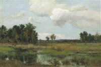 a heath landscape by dorus arts