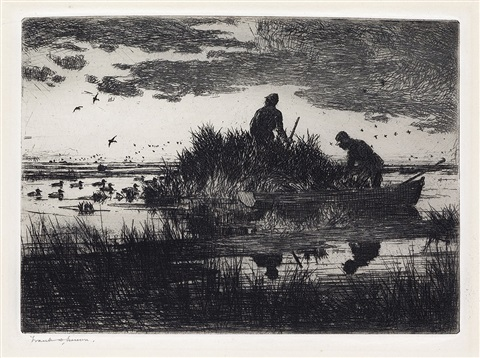 duck blind by frank weston benson