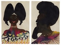 untitled (in 2 parts) by chris ofili