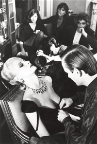 givenchy & bulgari, french vogue, paris by helmut newton