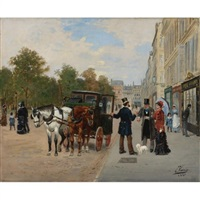 on the boulevards of paris by léon joseph voirin
