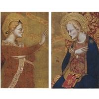 the archangel gabriel and the virgin annunciate by giovanni del biondo