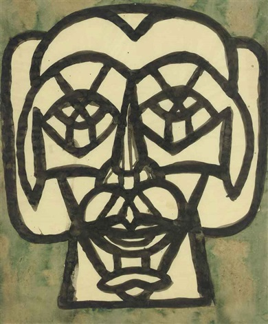 head of antiochus by richard pousette dart