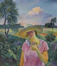 die himmlische rose - londa mit der heckenrose by conrad felixmüller
